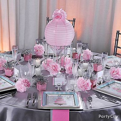 Let S Have A Soiree Sweetly Unique Boutique. Purple Pink and Black Table Setting ... & Sophisticated Pink Table Settings Photos - Best Image Engine - xnuvo.com